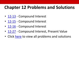 Chapter 12 Problems and Solutions
