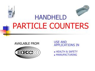 handheld laser particle counters