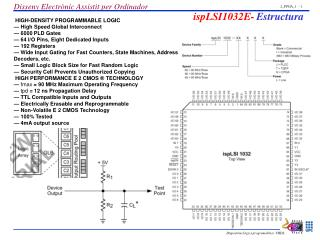 HIGH-DENSITY PROGRAMMABLE LOGIC   High Speed Global Interconnect   6000 PLD Gates   64 I