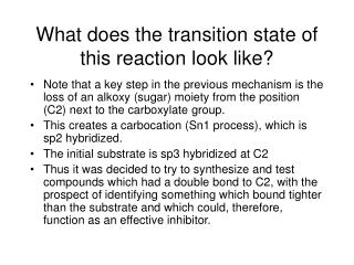 What does the transition state of this reaction look like