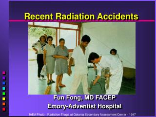 recent radiation accidents