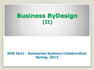 Business ByDesign II