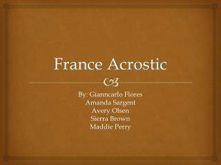France Acrostic