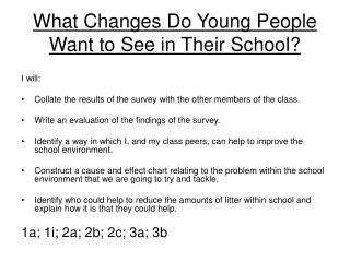 What Changes Do Young People Want to See in Their School