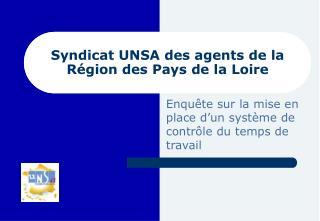 Syndicat UNSA des agents de la R gion des Pays de la Loire