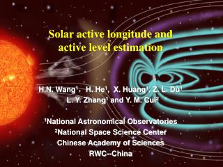 H.N. Wang1,H. He1,  X. Huang1, Z. L. Du1   L. Y. Zhang1 and Y. M. Cui2  1National Astronomical Observatories 2National S