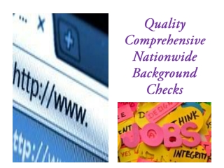 Quality Comprehensive Nationwide Background Checks