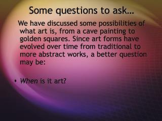 How Should We Look at Art