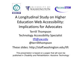 A Longitudinal Study on Higher Education Web Accessibility: Implications for Advocates