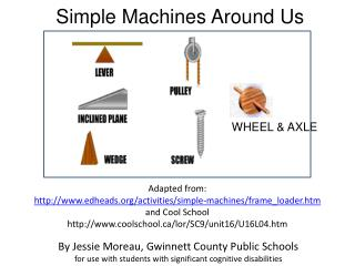 Simple Machines Around Us