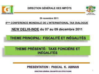 THEME principal:  fiscalit  et in galit s