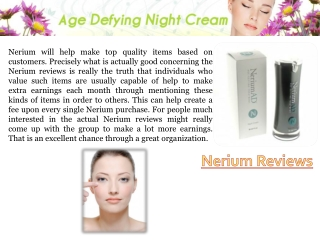 What Is Nerium