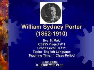 william sydney porter 1862-1910