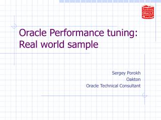 Oracle Performance tuning: Real world sample