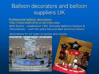 balloon decorators