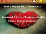 Grammar 1 Adverbs of frequency and place