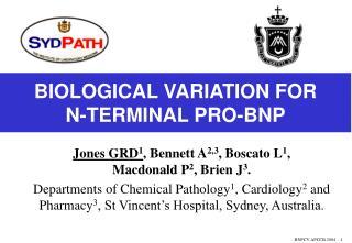 BIOLOGICAL VARIATION FOR  N-TERMINAL PRO-BNP
