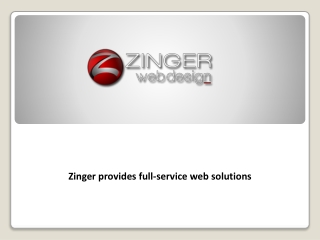 Zinger Web Design