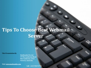 How to Choose The Best Webmail Server - Tips and Tricks