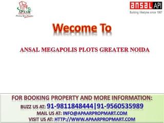 Ansal Megapolis Plots Resale 9811848444 Ansal API Plots Resa