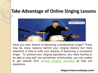 Take Advantage of Online Singing Lessons