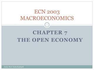 ECN 2003 MACROECONOMICS