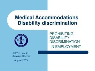 medical accommodations  disability discrimination
