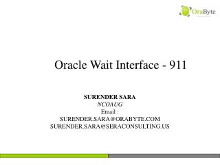 Oracle Wait Interface - 911