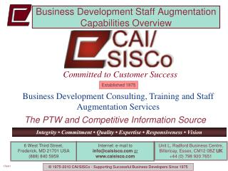 Business Development Staff Augmentation Capabilities Overview