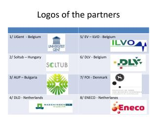 Logos of the partners