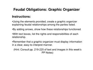 Feudal Obligations: Graphic Organizer