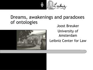 Dreams, awakenings and paradoxes of ontologies