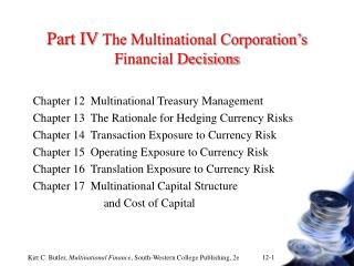 part iv the multinational corporation s financial decisions