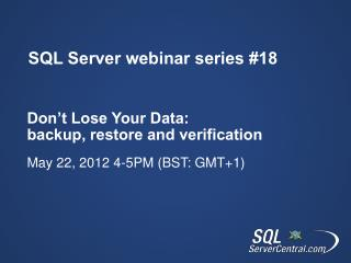 SQL Server webinar series 18