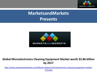 Global Microelectronics Cleaning Equipment Market by 2017