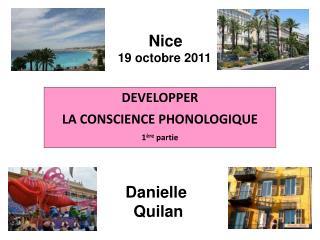 DEVELOPPER  LA CONSCIENCE PHONOLOGIQUE 1 re partie