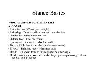 Stance Basics