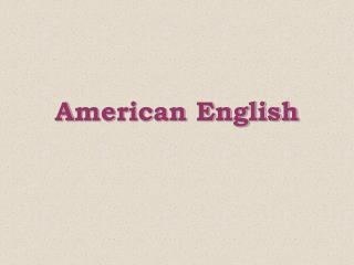 Merican English