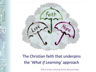 The Christian faith that underpins  the  What if Learning  approach