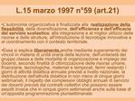 L.15 marzo 1997 n 59 art.21