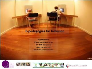 E-pedagogies for Inclusion