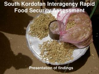 South Kordofan Interagency Rapid Food Security Assessment