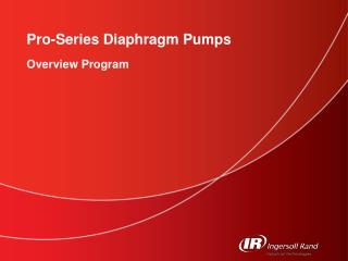 Pro-Series Diaphragm Pumps