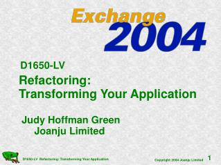 Refactoring:    Transforming Your Application