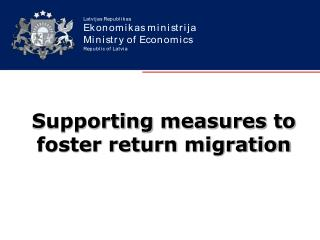 Supporting measures to foster return migration