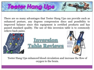 Teeter Hang Ups Reviews