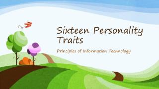 Sixteen Personality Traits