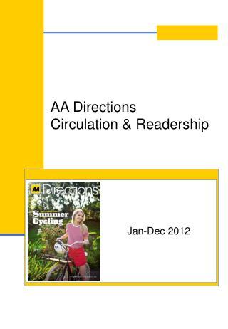 AA Directions Circulation  Readership