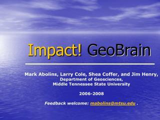 Impact GeoBrain