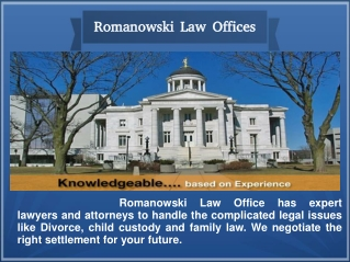 Get the Right Advice inDivorce NJ from Romanowski Law Office